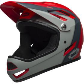 Bell Sanction casco per bici grigio/rosso